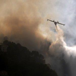 Во Франции возле Ниццы и на Корсике горят леса: фото