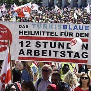 В Вене десятки тысяч протестовали против 12-часового рабочего дня