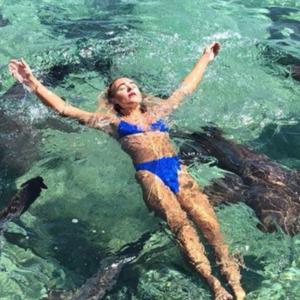 Акула напала на модель під час фотосесії на Багамах - фото