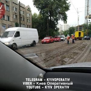 Ночная стихия в Киеве заблокировала троллейбусы и трамваи