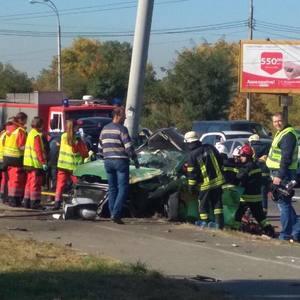 ДТП в Киеве: водитель без прав ехал со скоростью 180 км/ч