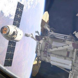 """""""Звезда за полет"""": на капсуле SpaceX рисуют картинку МКС — фото"""