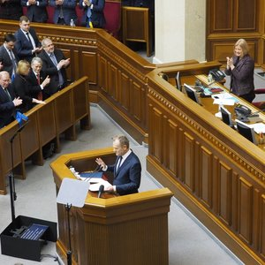 Туск українською в Раді: Хто продає Україну, той продає Європу