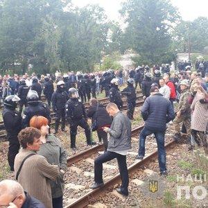 Во Львовской области полиция разогнала блокировщиков угля: видео